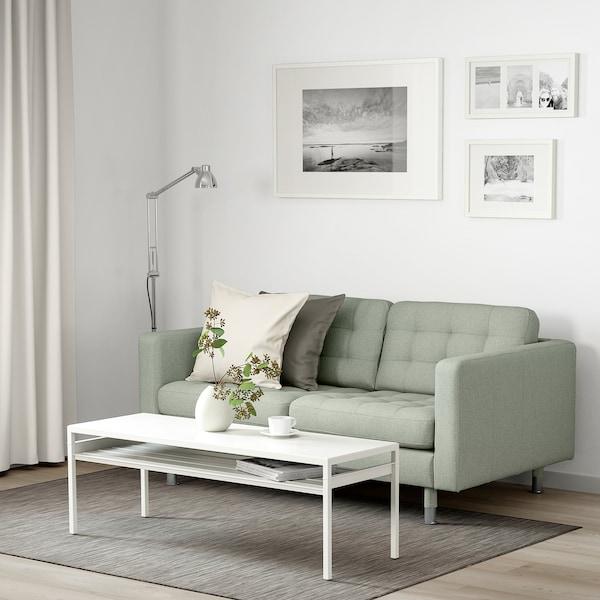 LANDSKRONA 2-seat sofa Gunnared light green/metal 164 cm 89 cm 78 cm 64 cm 140 cm 61 cm 44 cm