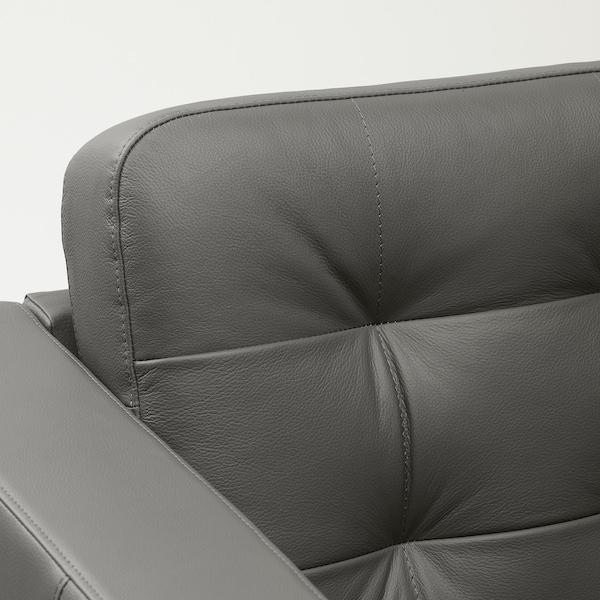 LANDSKRONA Armchair, Grann/Bomstad grey-green/metal