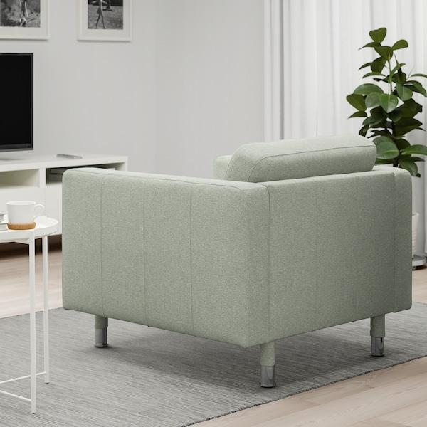 LANDSKRONA Armchair, Gunnared light green/metal