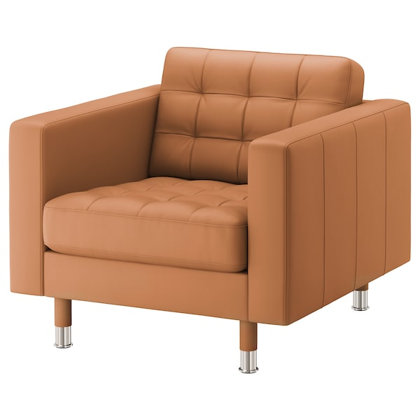 LANDSKRONA armchair Grann/Bomstad golden-brown/metal 89 cm 89 cm 78 cm 65 cm 61 cm 44 cm