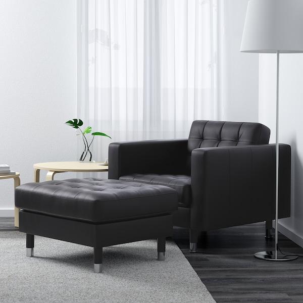 LANDSKRONA armchair Grann/Bomstad black/metal 89 cm 89 cm 78 cm 65 cm 61 cm 44 cm