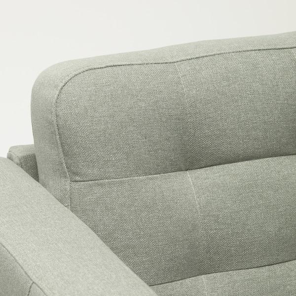LANDSKRONA chaise longue, add-on unit Gunnared light green/metal 78 cm 158 cm 78 cm 128 cm 44 cm