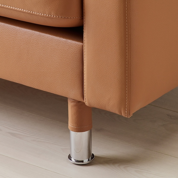 LANDSKRONA chaise longue, add-on unit Grann/Bomstad golden-brown/metal 78 cm 158 cm 78 cm 128 cm 44 cm