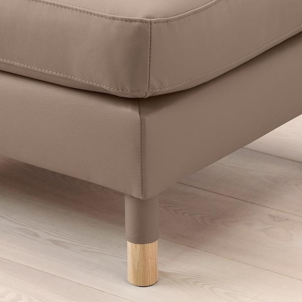 LANDSKRONA Footstool, Grann/Bomstad dark beige/wood