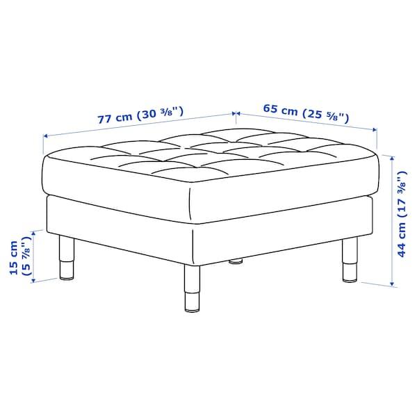 LANDSKRONA Footstool, Grann/Bomstad grey-green/metal