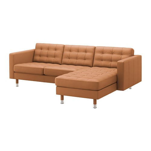 Magnificent Landskrona 3 Seat Sofa With Chaise Longue Grann Bomstad Golden Brown Metal Andrewgaddart Wooden Chair Designs For Living Room Andrewgaddartcom