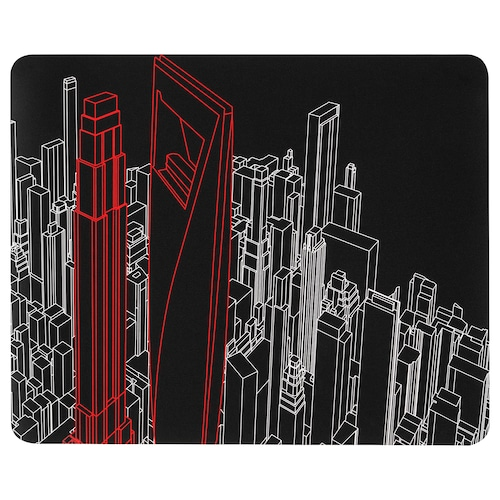LÅNESPELARE Gaming mouse pad, patterned, 36x44 cm