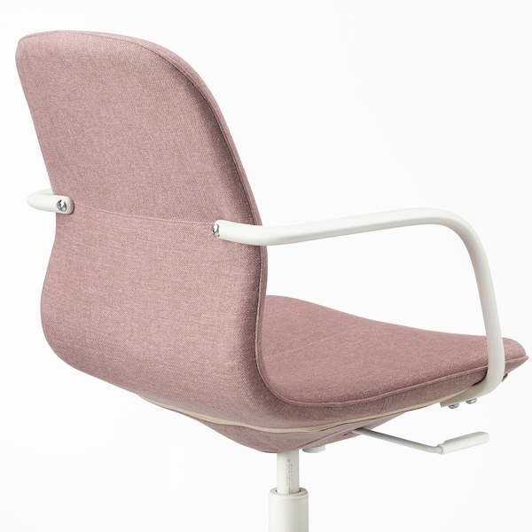 LÅNGFJÄLL conference chair with armrests Gunnared light brown-pink/white 110 kg 67 cm 67 cm 92 cm 53 cm 41 cm 43 cm 53 cm