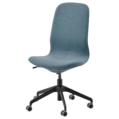 LÅNGFJÄLL Office chair, Gunnared blue/black