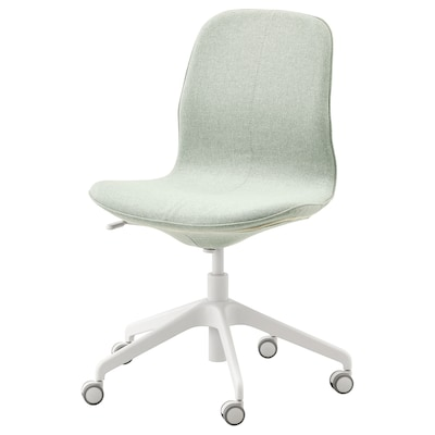 LÅNGFJÄLL Office chair, Gunnared light green/white