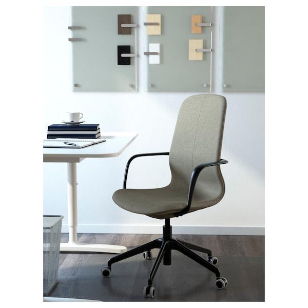 LÅNGFJÄLL office chair with armrests Gunnared light green/black 110 kg 68 cm 68 cm 104 cm 53 cm 41 cm 43 cm 53 cm