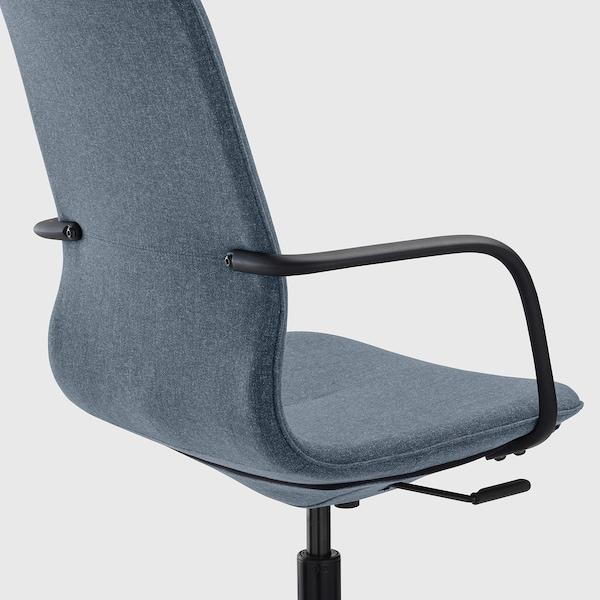 LÅNGFJÄLL office chair with armrests Gunnared blue/black 110 kg 68 cm 68 cm 104 cm 53 cm 41 cm 43 cm 53 cm