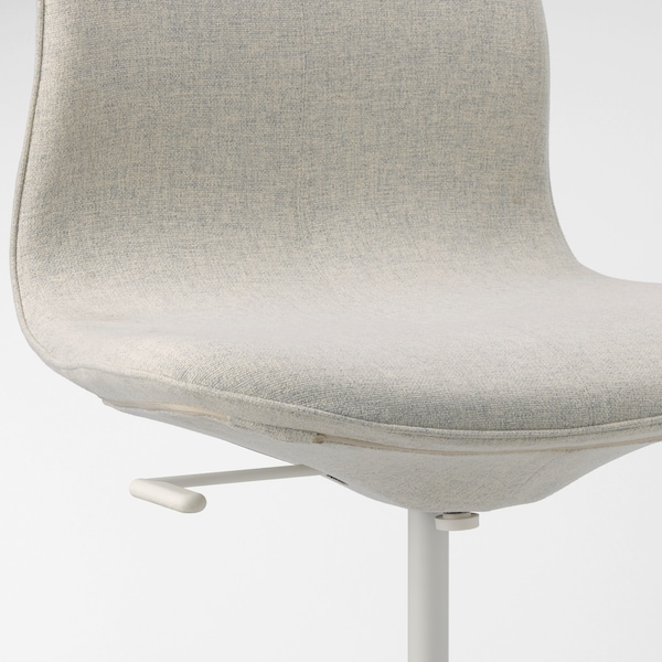 LÅNGFJÄLL office chair Gunnared beige/white 110 kg 68 cm 68 cm 104 cm 53 cm 41 cm 43 cm 53 cm