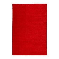 LANGSTED rug, low pile, red