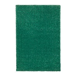 LANGSTED rug, low pile, green