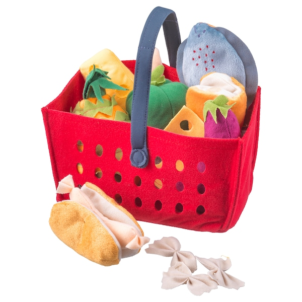 LÅTSAS 12-piece shopping basket set