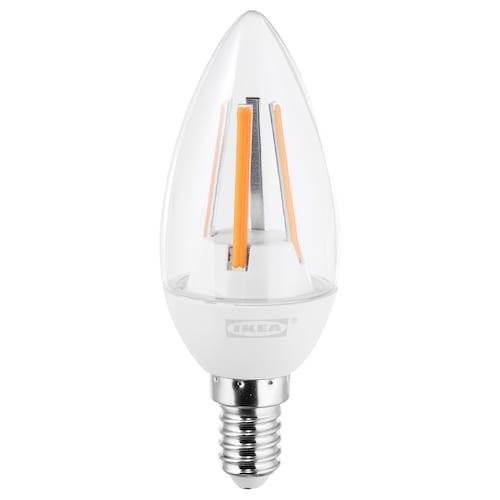LEDARE LED bulb E14 400 lumen, warm dimming/chandelier clear