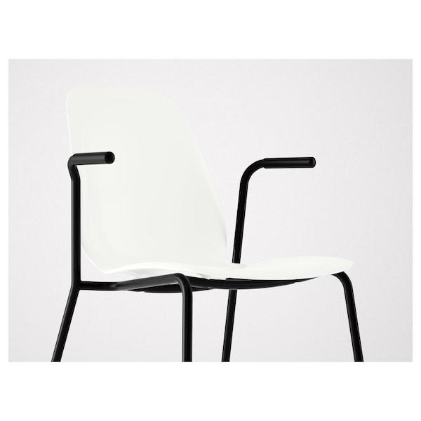 LEIFARNE chair with armrests white/Dietmar black 110 kg 53 cm 50 cm 87 cm 45 cm 36 cm 46 cm