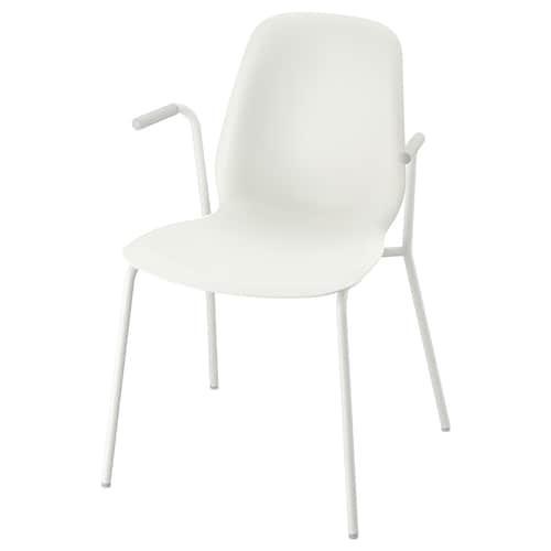 LEIFARNE chair with armrests white/Dietmar white 110 kg 53 cm 50 cm 87 cm 45 cm 36 cm 46 cm