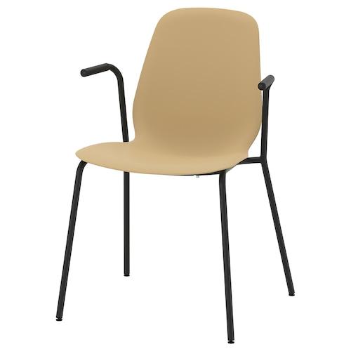 LEIFARNE chair with armrests light olive-green/Dietmar black 110 kg 53 cm 50 cm 87 cm 45 cm 36 cm 46 cm