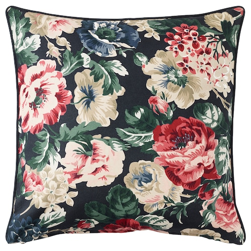 LEIKNY cushion cover black/multicolour 50 cm 50 cm