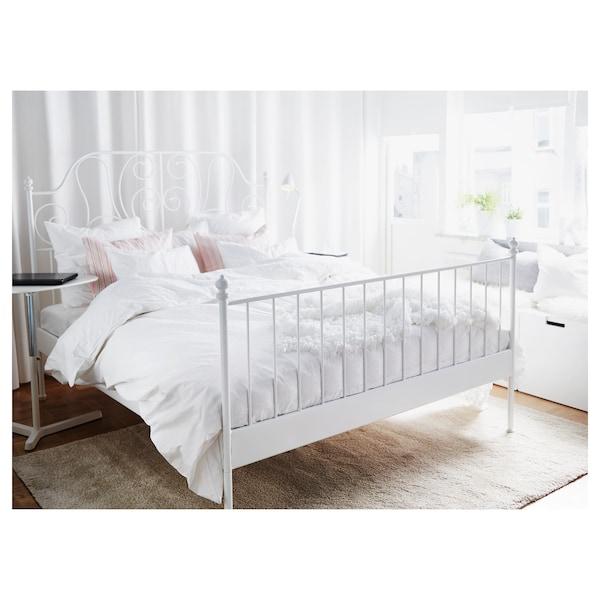 LEIRVIK Bed frame, white/Luröy, 150x200 cm