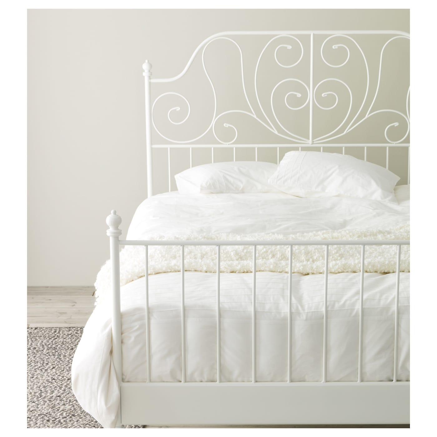 Leirvik Bed Frame White Luröy Ikea