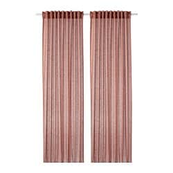 LEJONGAP curtains, 1 pair, light brown-pink