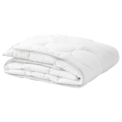 LENAST Quilt for cot, white/grey, 110x125 cm