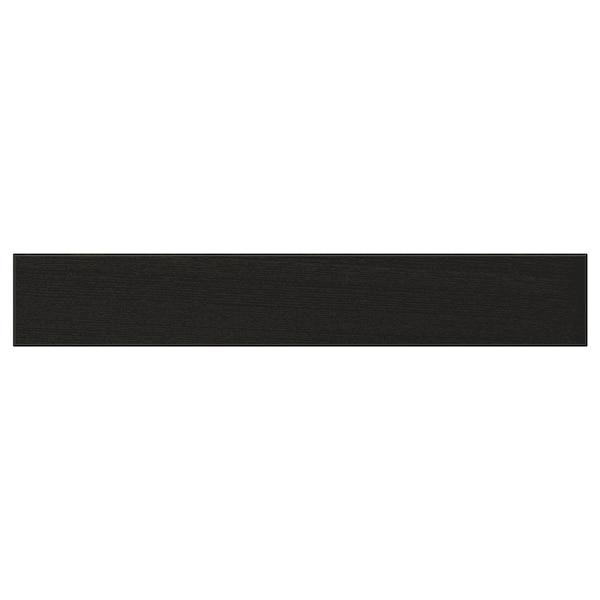 LERHYTTAN drawer front black stained 59.7 cm 10 cm 60 cm 9.7 cm 1.9 cm