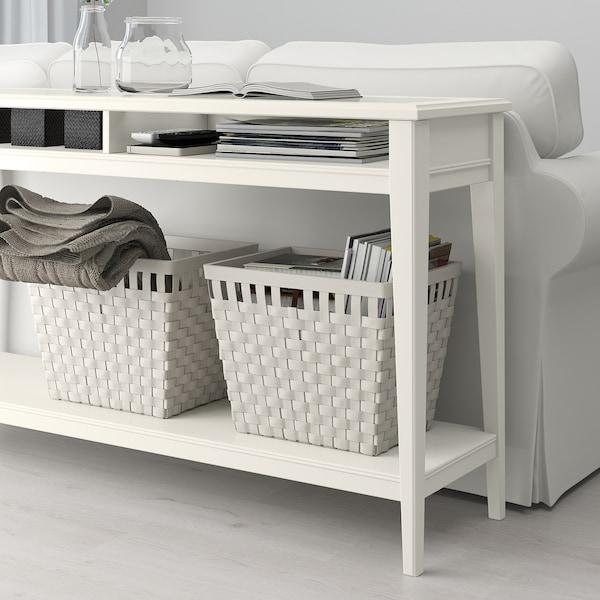 LIATORP console table white/glass 133 cm 37 cm 75 cm