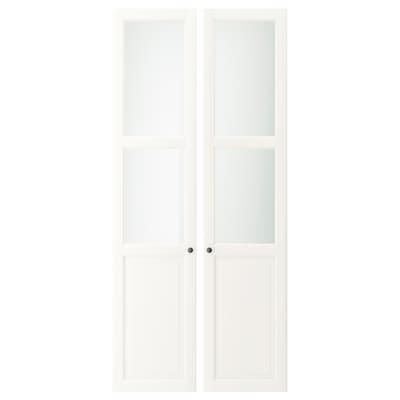 LIATORP Panel/glass door, white, 44x198 cm