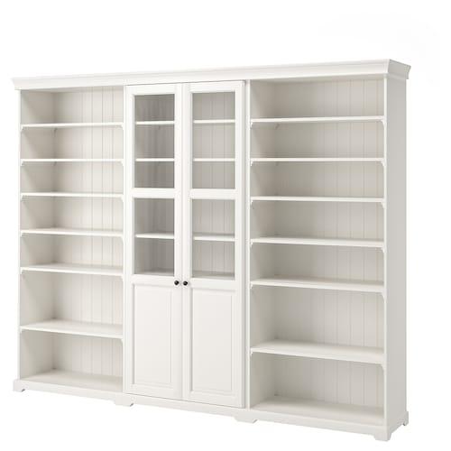 LIATORP Storage combination, white, 276x215 cm