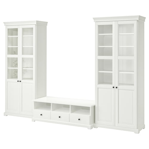 LIATORP TV storage combination, white, 331x215 cm