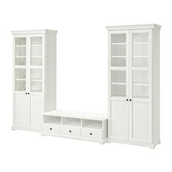 LIATORP TV storage combination, white