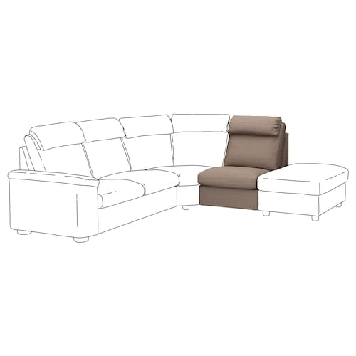 LIDHULT 1-seat section Lejde beige/brown 95 cm 76 cm 71 cm 97 cm 38 cm