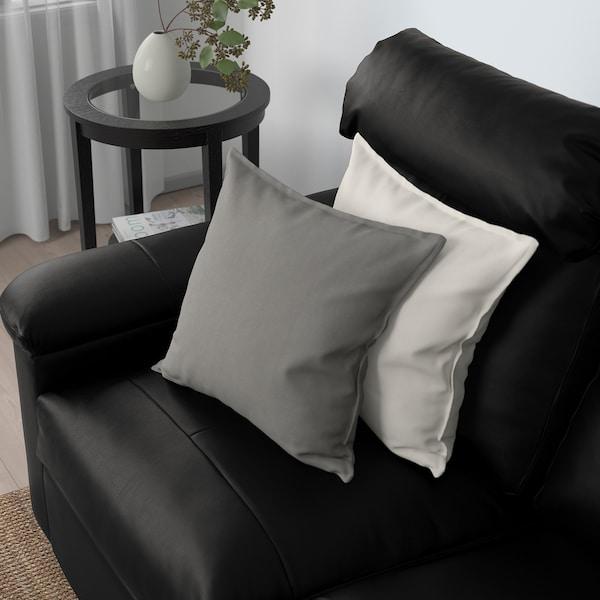 LIDHULT 2-seat sofa-bed, Grann/Bomstad black