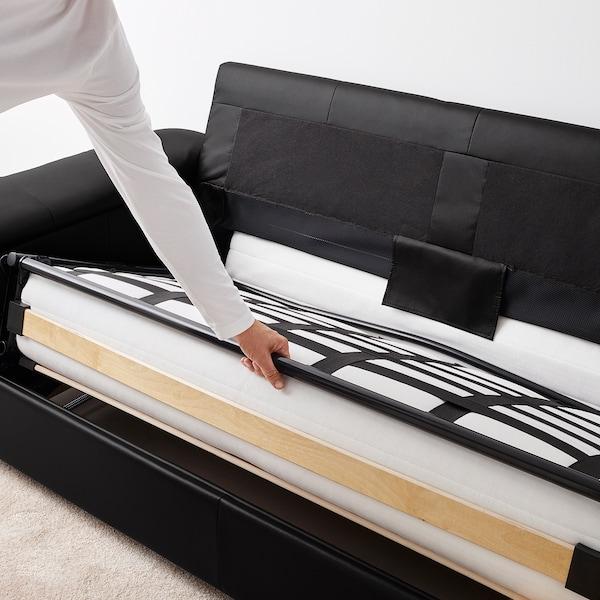 LIDHULT 2-seat sofa-bed Grann/Bomstad black 102 cm 76 cm 208 cm 98 cm 7 cm 53 cm 45 cm 140 cm 200 cm