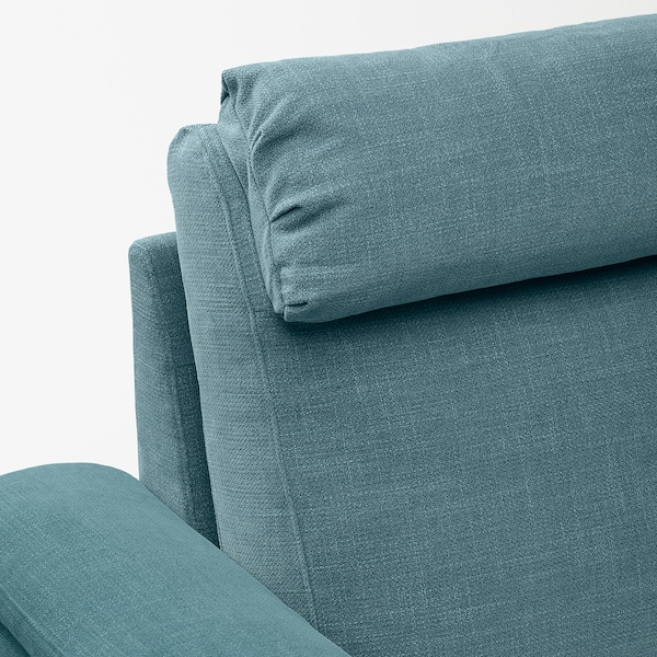 LIDHULT 3-seat sofa, with chaise longue/Gassebol blue/grey