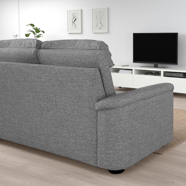 LIDHULT 3-seat sofa Lejde grey/black 102 cm 76 cm 259 cm 98 cm 7 cm 211 cm 53 cm 45 cm