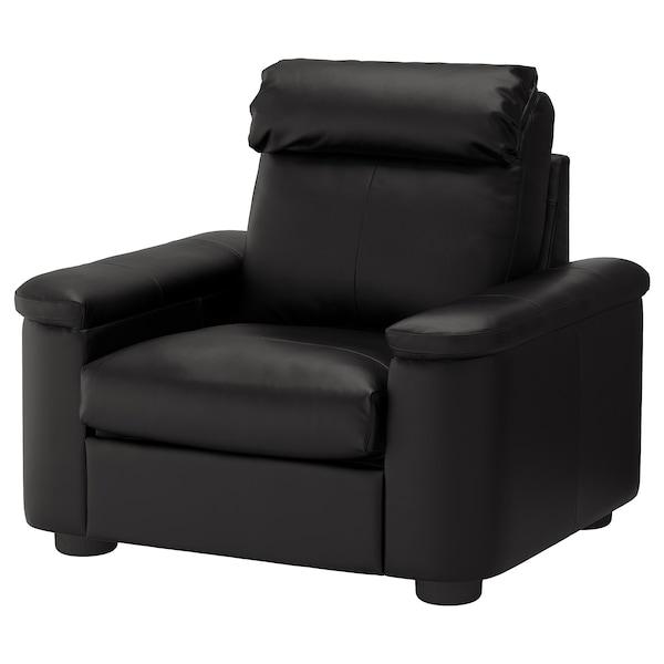 LIDHULT Armchair, Grann/Bomstad black