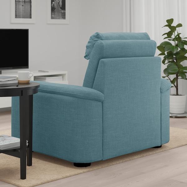 LIDHULT armchair Gassebol blue/grey 102 cm 76 cm 119 cm 98 cm 7 cm 71 cm 53 cm 45 cm