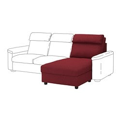 LIDHULT chaise longue section, Lejde red-brown