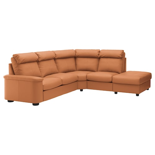 LIDHULT Corner sofa, 5-seat, with open end/Grann/Bomstad golden-brown