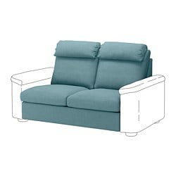 LIDHULT 2-seat sofa-bed section, Gassebol blue/grey