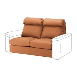 LIDHULT 2-seat sofa-bed section, Grann/Bomstad golden-brown
