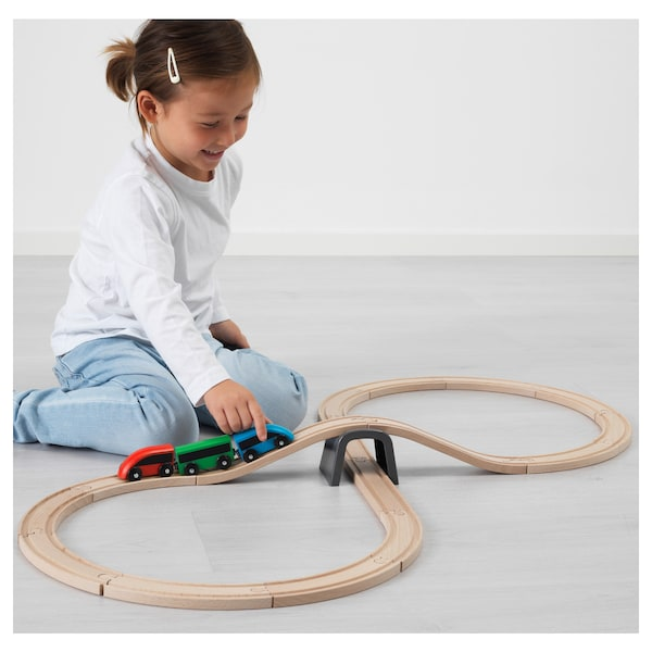 IKEA LILLABO 20-piece basic train set