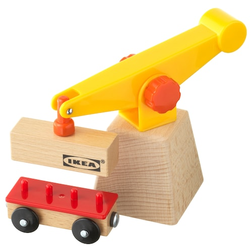 IKEA LILLABO 3-piece crane and wagon set