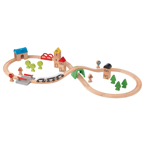 LILLABO 45-piece train set with rail