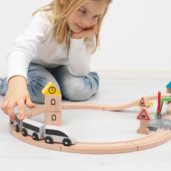 IKEA LILLABO 45-piece train set with rail